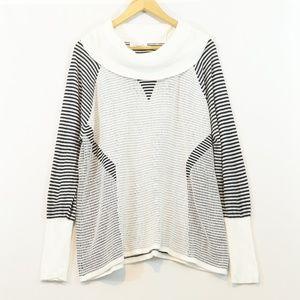 Calvin Klein striped Knit Tunic Sweater
